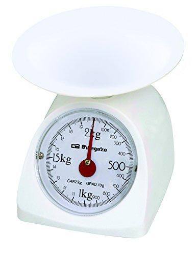 BALANZA COCINA ORBEGOZO PC-1015 2KG Mec Peso de cocina mecánico. Superficie de plástico lisa. Capacidad max: 2kg. Escalado: 10g.