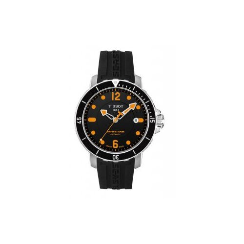 d8d6c16b94c Men s Watches - Tissot Men s T0664071705701 SeaStar Black Automatic ...