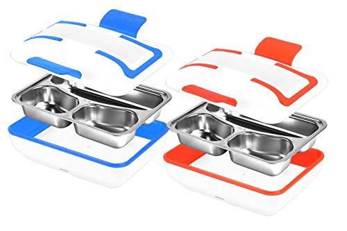 Rechaud Elektro Thermo ausziehbar Edelstahl Tragbar Mittagessen Lunchbox 304