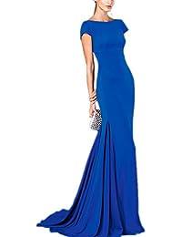 Special novia 2016Nuevo estilo sencillo Open Back sirena fiesta de vestido de fiesta vestidos de novia
