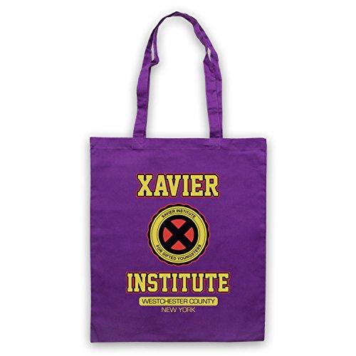 Inspiriert durch X Herren Xavier Institute For Gifted Youngsters Inoffiziell Umhangetaschen Violett