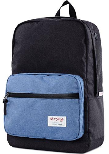 """HotStyle 915s zaino scuola classico 24L - impermeabile per porta pc da 15"""" - Nero blu"""