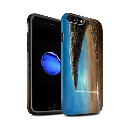 Offiziell Chris Cold Hülle / Matte Harten Stoßfest Case für Apple iPhone 7 Plus / Entfernten Stern Muster / Galaktische Welt Kollektion Exoplanet