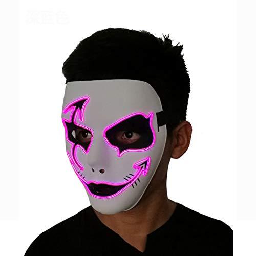 LXF Handgemalte Pfeile Halloween Glow Halloween-Maske, 3 Flash-Muster von EL Cold Light Halloween-Maske für Weihnachten Karneval Kostüm Cosplay - Flash Kostüm Pfeil