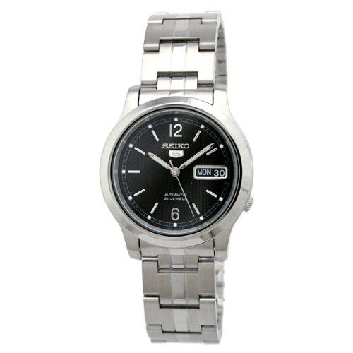 Seiko Herren-Armbanduhr XL Analog Automatik Edelstahl SNK799K1