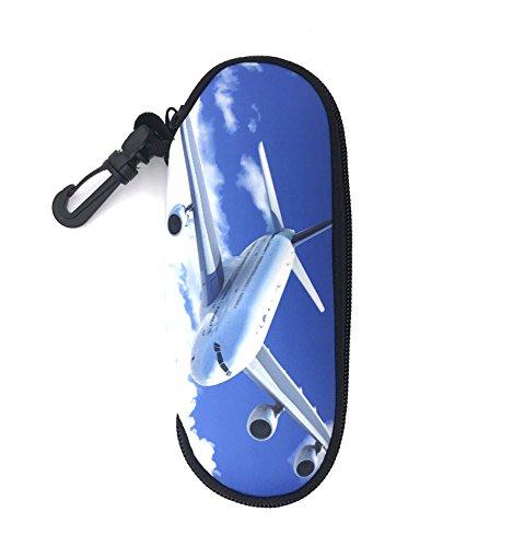 Wommty Neopren Reise Reißverschluss Brillenetui Brillenbox Sicherheits Beutel-Kasten für Sonnenbrillen für Sonnenbrillen, Badebrillen und Brillen, Tragetasche für Schlüssel, Bleistifte, Flugzeig