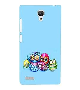 EPICCASE Owl family Mobile Back Case Cover For Xiaomi Redmi Note (Designer Case)