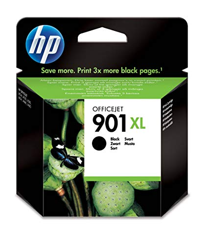 HP 901XL CC654AE Cartuccia Originale per Stampanti a Getto di Inchiostro, Compatibile Officejet All-in-One 4500, J4580 e J4680, Nero