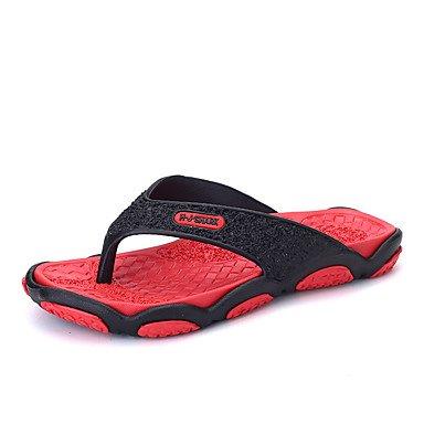 Slippers & amp da uomo;Comfort Light Suole PU primavera-estate casuale Verde Rosso Grigio Arancione piatto S sandali US8.5-9 / EU41 / UK7.5-8 / CN42
