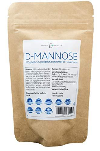 D-Mannose Pulver Als Große Packung mit 150g Mit Made in Germany Als Vegan Und Natürlicher Basis Und Extra Dosierlöffel Für 75 Portionen Als 2,5 Monate Vorrat -