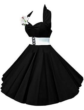 vkstar® Bambini Abito Anni 50Vintage Stile Halter Senza Manico 1950s Audrey Hepburn Vestito Ragazza Rockabilly...