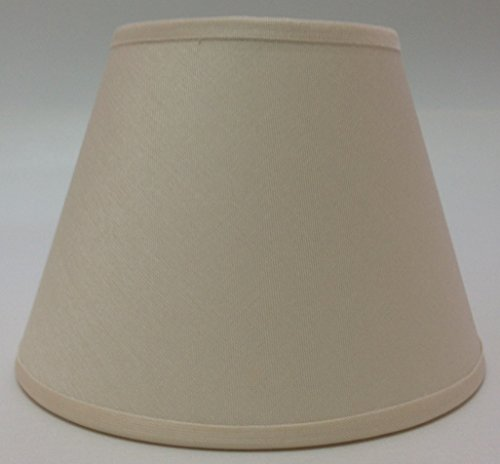 Pequeño–crema de clip On tulipa de lámpara de techo lámpara de pared lámpara de techo, hecho a mano tela de algodón,...