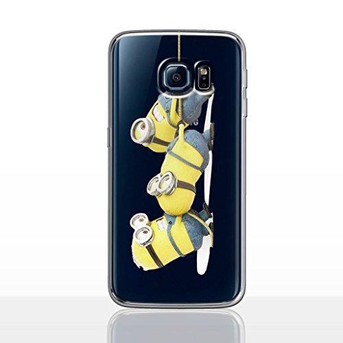 iCHOOSE Minions Gel Etui für Samsung Smartphone Samsung Galaxy S6 Tauziehen