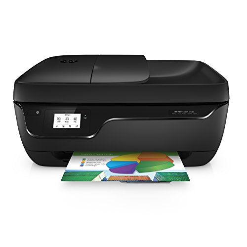 HP Officejet 3831 Multifunktionsdrucker (Drucker, Kopierer, Scanner, Fax, WLAN, Airprint) mit 3 Probemonaten HP Instant Ink inklusive (Mit Klein Scanner Drucker)