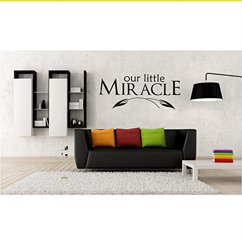Ljtao Warmes Und Romantisches Wand-Abziehbild-Aufkleber-Zitat-Vinyl, Das Unser Kinderzimmer Des Kleinen Wunder-Babys Beschriftet