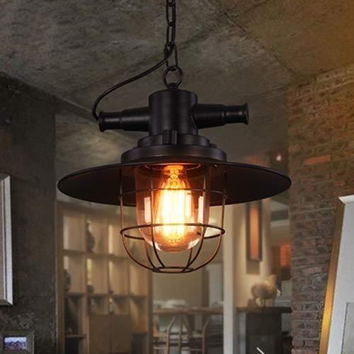 IBalody Kreative Metallkäfig Industrie Hängeleuchte E27 Edison Retro Laterne Anhänger Beleuchtung Einstellbare Antike Hängeleuchte for Vintage Bauernhaus Scheune Veranda Küche Decor Kronleuchter Schwa