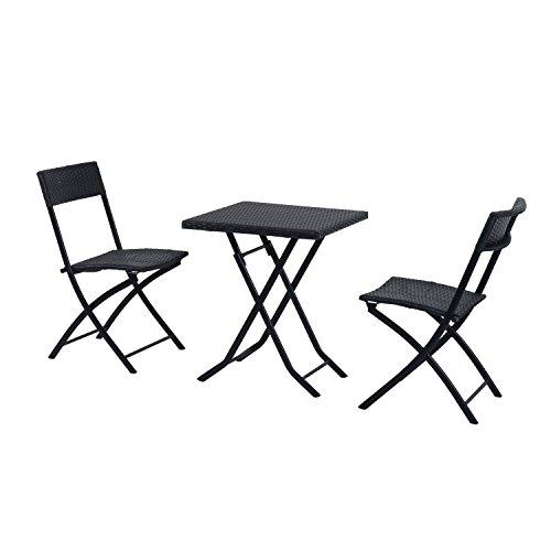 SoBuy® Arredo da giardino, set da giardino, mobili da bistrot, mobili da terrazza, mobili da balcone,OGT02,IT