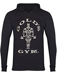 Golds Gym Herren Shirt Sport Training Fitness Langarm Kapuze