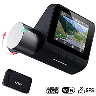 70mai Dashcam Pro 1944P FHD mit integriertem WLAN, Sprachsteuerung, Notfallaufnahme, APP Control Dashboard, G-Sensor, WDR, 140° Weitwinkel, Auto Smart DVR mit Nachtsicht, Parkmonitor