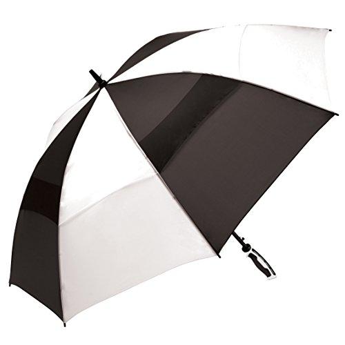 shedrain-3289-blackwhite-windjammer-vented-manual-golf-umbrella-62-inch-arc