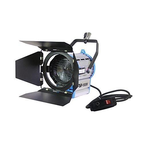 1000Watt Dimmer integriertem in Fresnel Wolfram Foto Video Studio kontinuierliche Beleuchtung Licht Strahler (Studio-beleuchtung Kontinuierliche)