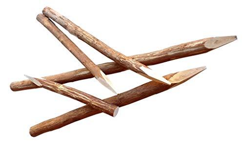 Haselnusspfosten 180 cm - Naturbelassen und geschälte Holzpfosten aus Haselnuss