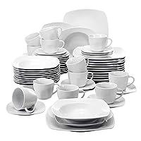 """Taille: 4"""" Tasses 10*7*8cm 191g 5,5"""" Soucoupe 14*14*2cm 187g 8,25"""" Assiette à dessert 21*21*2,5cm 499g 8,5"""" Assiette à soupe 21,5*21*5cm 563g 10,25"""" Assiettes plates 26,5*26*2,5cm 805g"""