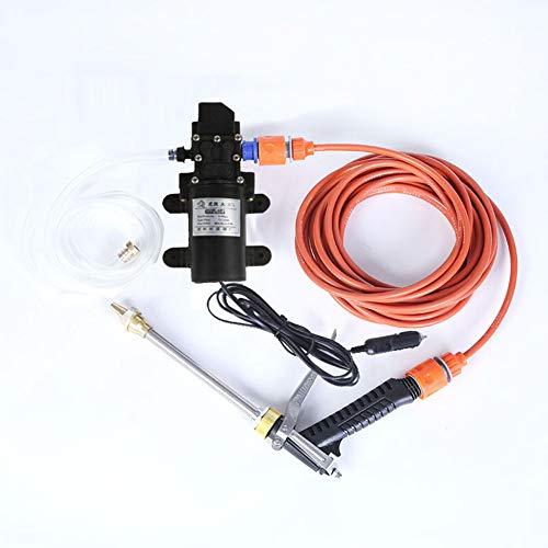 Ngls Elektrischer Mini-Hochdruckreiniger, Tragbarer kompakter Hochdruckreiniger-Reinigungsmittel 12V 72W / Car Kit, 0,5-0,8 mpa / 4-6 l, für Hausgarten, Autowaschmaschine