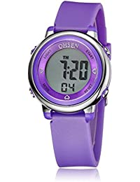 f3605e6a0216 PIXNOR Chicas de múltiples funciones resistente al agua luz de fondo  pantalla cuarzo reloj deportivo OHSEN