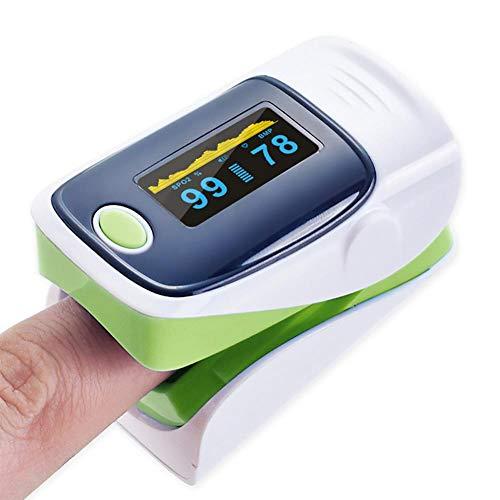 WanNing Pulsoximeter Fingerpulsoximeter für Kinder Erwachsene Oxymeter, Monitor Sauerstoffsättigung im Blut, ohne Batterie grün
