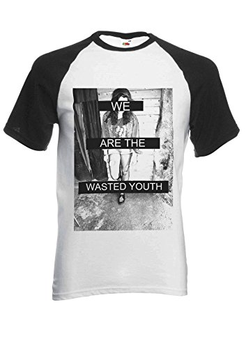 Wasted Youth (PatPat Store We Are The Wasted Youth Novelty Black/White Men Women Unisex Short Sleeve Baseball T Shirt-S)