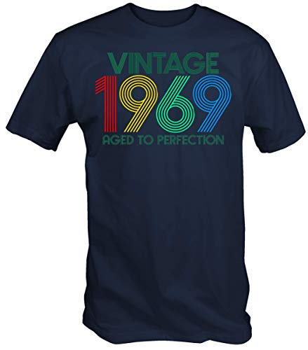 6TN Hombre Vintage 1969 Envejecido a la perfección t Shirt (XXL,...