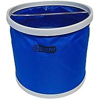 Cubo plegable de 9 a 11 litros, de Eseno, azul