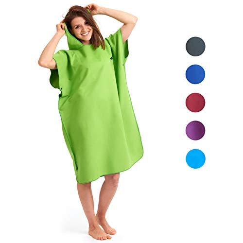 Fit-Flip Surf Poncho-Größe L-grün_ Umziehhilfe Damen, Umkleidehilfe Damen, Badeponcho, Poncho extra lang - Grüne Herren-robe