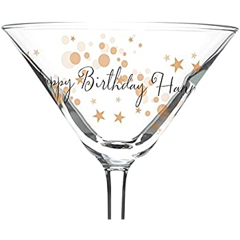 Amazing Gold Bubbles Cocktail Glass   Personalised Gift