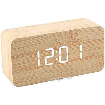 goldfox horloge en bois led r veil digital en bois montre alarm bois bambou avec. Black Bedroom Furniture Sets. Home Design Ideas