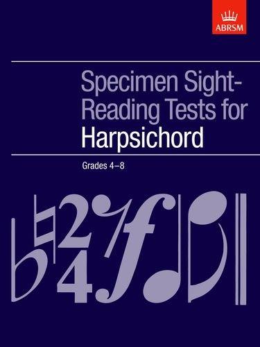 Specimen Sight-Reading Tests for Harpsichord, Grades 4-8 (ABRSM Sight-reading)