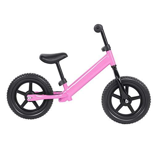 Wakects Bicicleta sin Pedales para niños y niñas | Bici 12 Pulgadas a Partir de 3-4 años con Freno (Rosa)