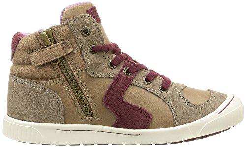Kickers Ziguers, Sneakers Hautes fille Beige (Gris Clair)