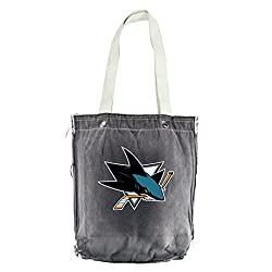 NHL San Jose Sharks Vintage Shopper, 13 x 14-Inch, Black