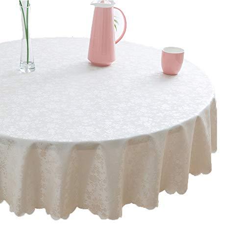 Dsaqao impermeabile no stiro broccato tovaglie, spill prova olio prova tonda coperchio della tabella grande tovaglie per la cucina dinning decorazioni da tavolo-b diametro140cm(55inch)