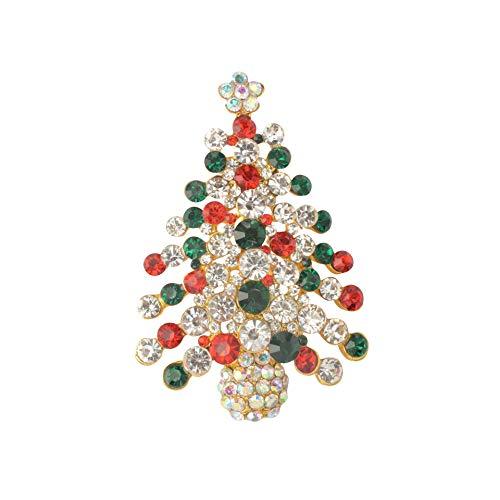 Multi Color Christmas Tree (Diamond Found Weihnachtsdekoration Persönlichkeit Set Diamond Drop Öl Weihnachtsbaum Brosche Brosche Accessoires Christmas Tree Brooch Pin Brooch Accessories (Multicolor Tree-1pcs))