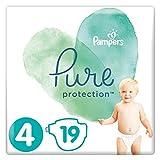 Pampers Pure Protection, Gr.4 Maxi 9-14 kg, Tragepack (1 x 19 Stück), mit Premium-Baumwolle