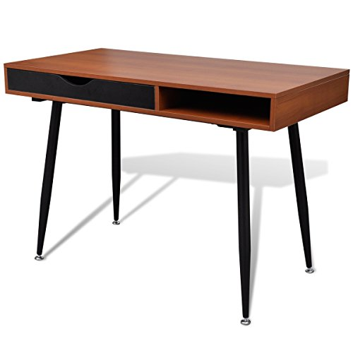 vidaXL Table d'Ordinateur en MDF Brun Bureau Décor Salon Meuble d'Ordinateur