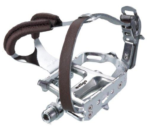 Wellgo FIXIES Pedale für Fixieräder mit Fusskorb u. - Riemen Pedal