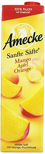 Amecke Sanfte Säfte Mango-Apfel-Orange - 100%, 6er Pack (6 x 1 l) (Mango-saft)