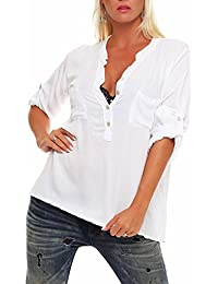 Bluse Damenbluse langarm 34 Bluse italienische Mode Gr: M