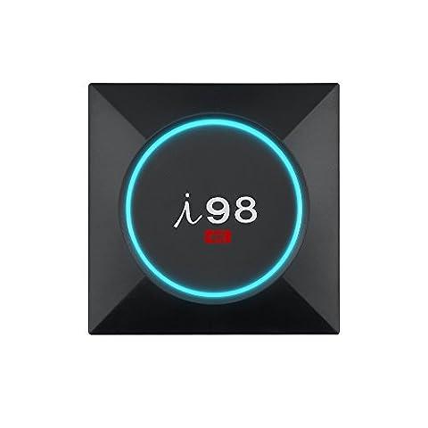 IBRAVEBOX I98 Pro 1GB/8GB/S905X Android TV Box Android Box Amlogic S905X Quad-Core 1GB RAM 8GB ROM Smart TV box Android Box Ultra 4K Schwarzer Unterstützung