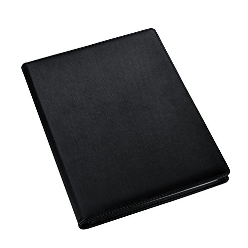 Carpeta de presentación A4 - Carpeta negra - Carpeta portafolio con fundas de plástico - Carpeta de bolsillo de poliéster por Arpan x 1 (A4-48 bolsillos/96 lados).