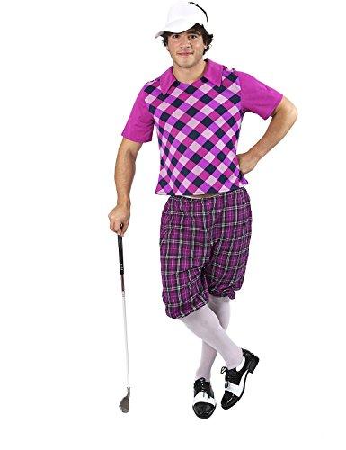 Erwachsenen Herren Kostüm Karneval Fasching Verkleidung Golfspieler Extra (Golfer Kostüme)